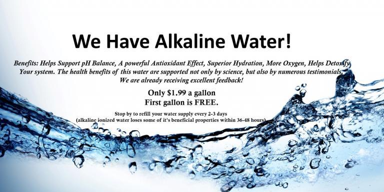 we have alkaline water